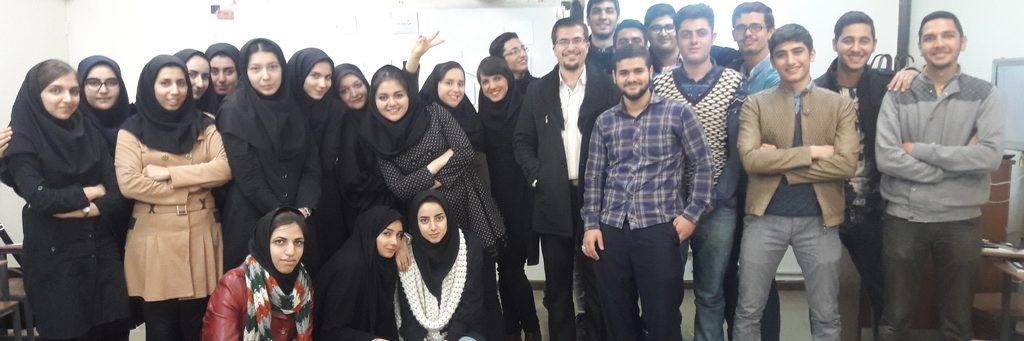 کلاس مهارت های زندگی با دانشجویان اتاق عمل، دانشگاه علوم پزشکی ایران، سال تحصیلی 1395-1394
