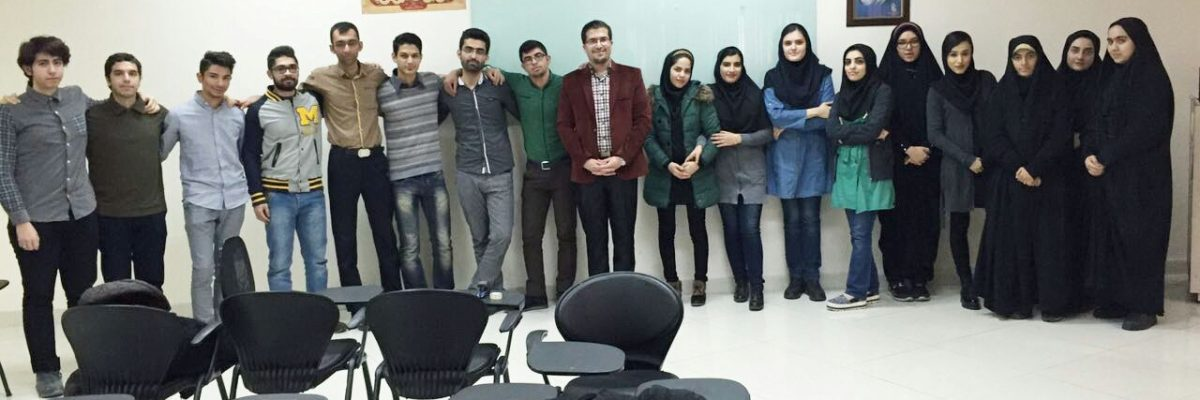 کلاس مهارت های زندگی با دانشجویان کاردرمانی، دانشگاه علوم پزشکی ایران، سال تحصیلی 1395-1394